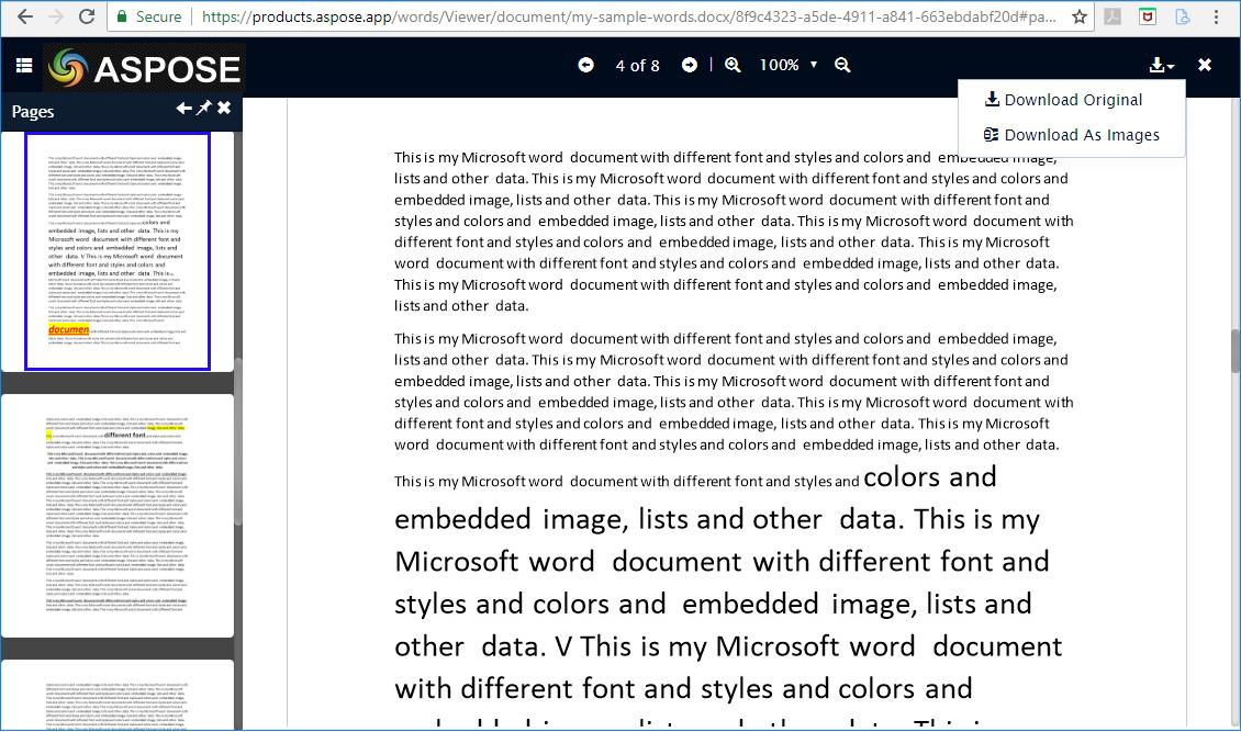 Free Online Aspose Words Document Viewer App | File Format Apps Blog