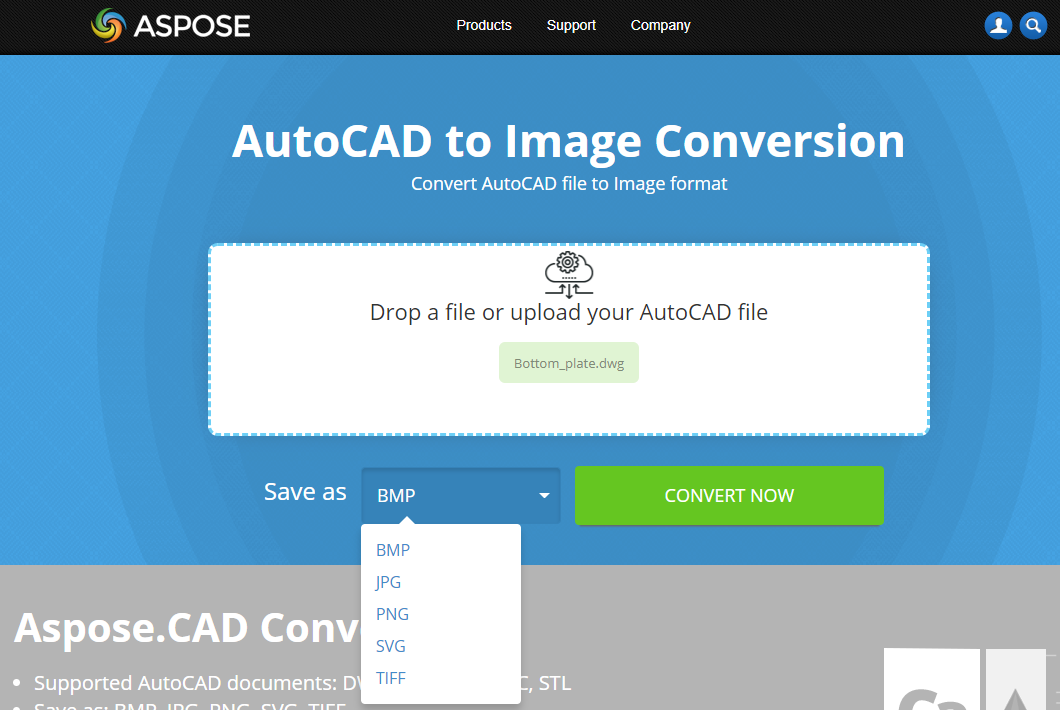 Free online AutoCAD to Image converter | File Format Apps