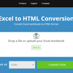 Free online Excel to HTML converter