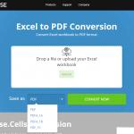Free online Excel to PDF converter