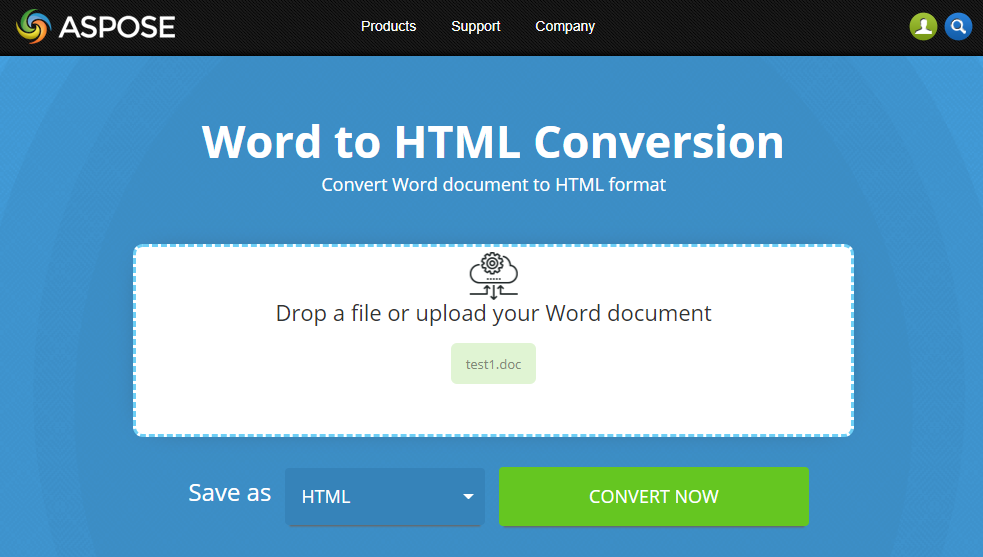 free online word to html converter