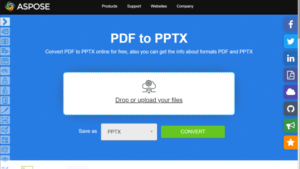 Convert PDF to PowerPoint home page
